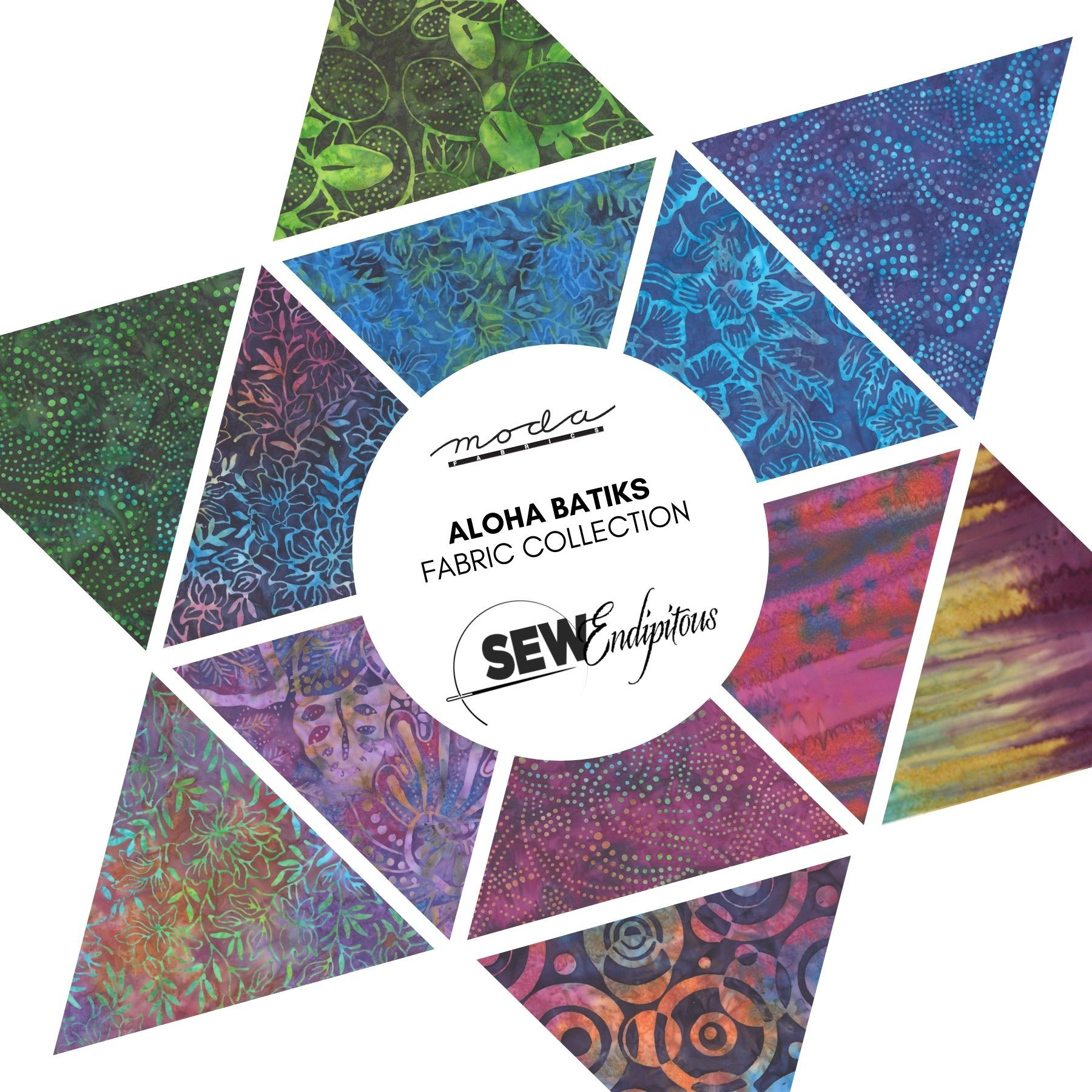 Aloha Batiks Fabric Collection